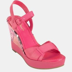 Cole Haan Paley Wedge Sandal Pink NEW IN BOX